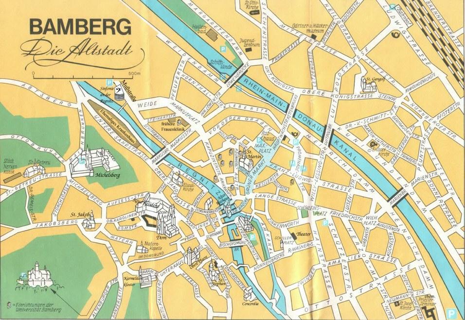 Karte Bamberg.Innenstadtplan